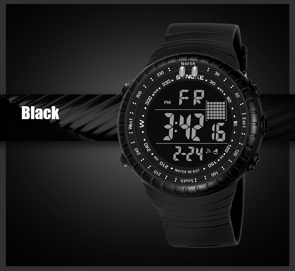 Men Sports Watches Multi Function Military Swimming Waterproof Watch LED Digital Dual Movement Rubber Wrist Watch 2018