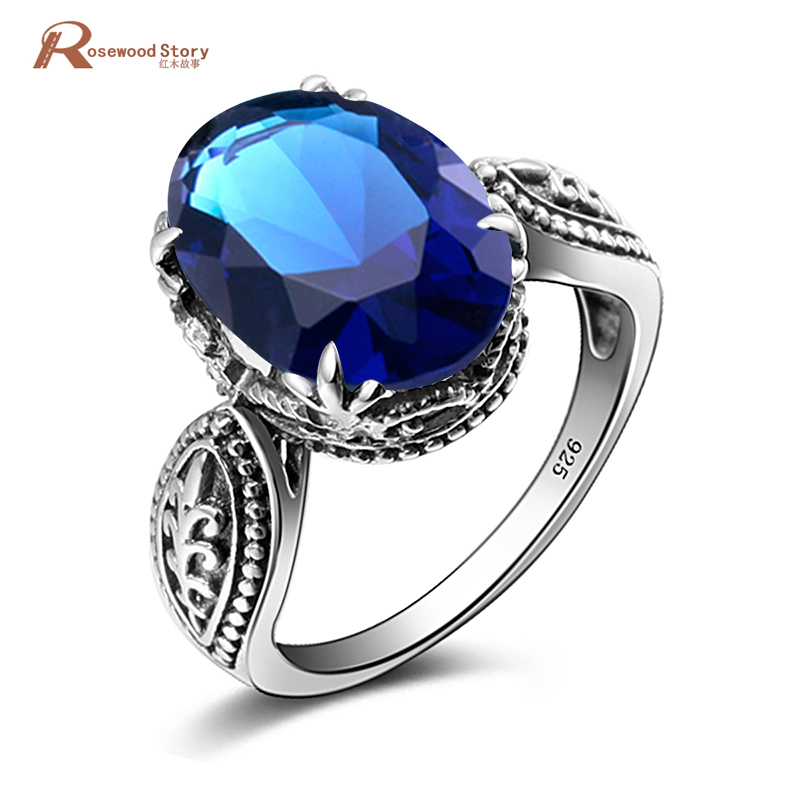 Oval Semi Mount 925 Silver Fine Jewelry Vintage Ring Elegant Created Sapphire Stone Ring Career Personalized Finger Lady GiftOval Semi Mount 925 Silver Fine Jewelry Vintage Ring Elegant Created Sapphire Stone Ring Career Personalized Finger Lady Gift