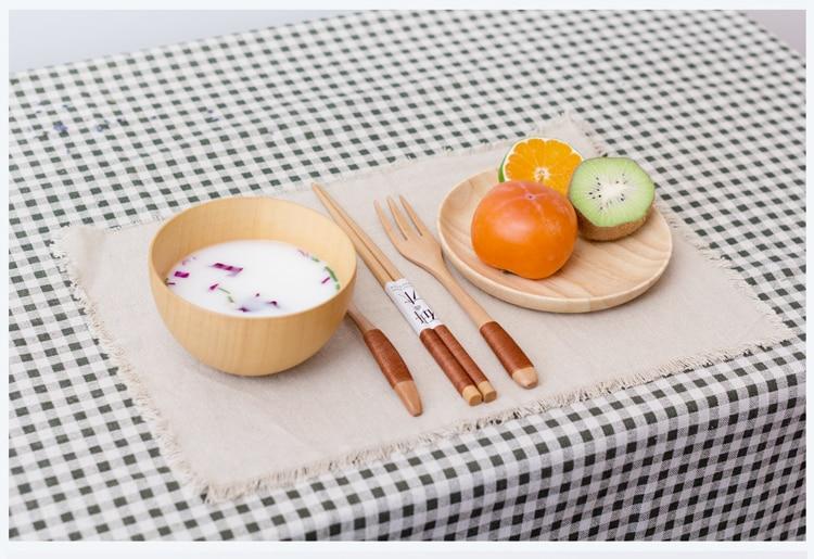 Купить с кэшбэком European/Chinese/Japanese/wood bowl solid wood bowl salad bowl for adult children to feed the rice bowl whole wood raw wood bowl