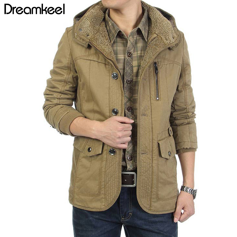 New clothes Casual Hooded Parkas Thick Warm Winter Man mens jackets and coats  windbreaker  hip hop  ropa de hombre 2018 Y
