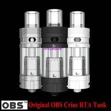 Original OBS Crius RTA Tanque Vaporizador Cigarrillos Electrónicos 4.2 ml Relleno Lateral Superior Fácil Rebuildable Atomizador para el cigarrillo electrónico
