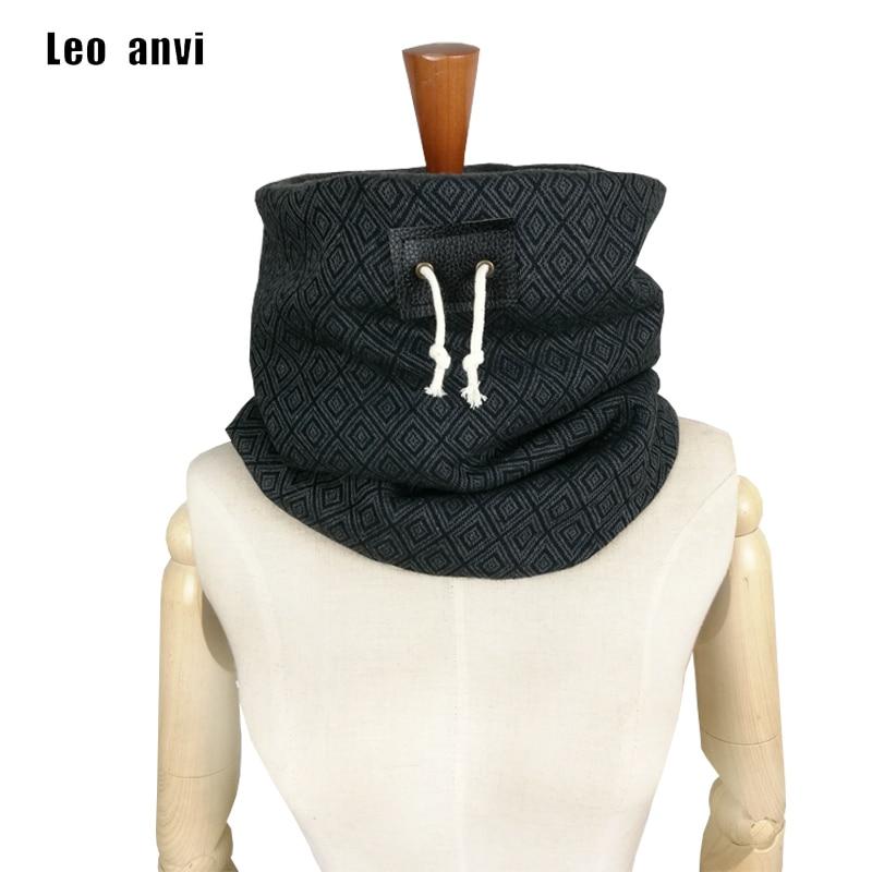 Leo Anvi Brand Designer Mens Winter Scarf Unisex Neck Warmer Boyfriend Gift Face Mask Jersey Knit Scarf Infinity Scarves
