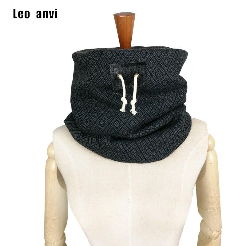 ᑐLeo anvi marque designer hommes D hiver écharpe Unisexe cache-cou ... 6822236e117
