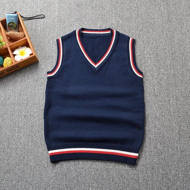 Uniforme uniforme v-cuello Twist patrón chaleco hombres mujeres otoño  colegio británico Pullovers de punto f8a2da3a0d6bd