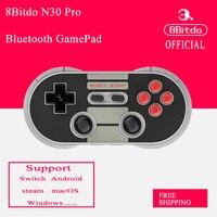 8 Bitdo N30 PRO Bluetooth Gamepad Bezprzewodowy Kontroler Z Joysticka na Przełącznik Pary Android macOS Raspberry Pi Nowe opakowanie