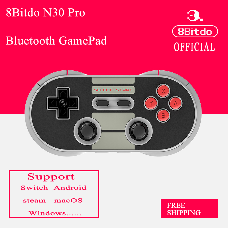 8 Bitdo N30 PRO Bluetooth Gamepad Joystick Ile Kablosuz Denetleyici Anahtarı Buhar Android macOS Ahududu Pi için Yeni ambalaj