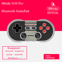 2015NEW Free Shipping 8Bitdo Crissaegrim N E S30 PRO Bluetooth Wireless Controller With Joystick For IOS