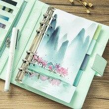 5pcs/set Fresh Landscape Series Dividers A5 A6 Spiral Notebook Loose