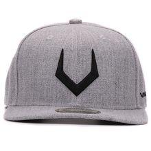 Unisex High-Quality Grey Wool Snapback Baseball Cap