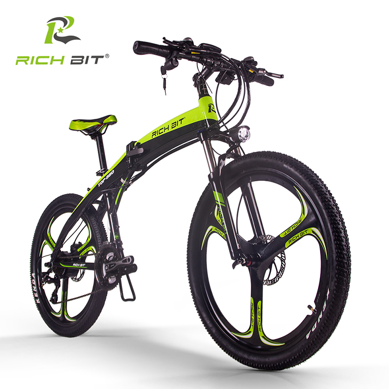 RichBit New RT 880 36V 250W Electric Bike Folding ebike Mountain Hybrid Electric Bicycle Frame Inside