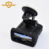 KOMMANDER M600R Car Dvr Radar Detector Gps 3 In 1 HD1080P 170 Degree Angle Russian Language
