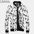 Men's Zebra Pu Leather Bomber Jackets Denim Patchwork Stand Collar Windproof Punk Style Coats Men Plus Size M-5XL Winter K109