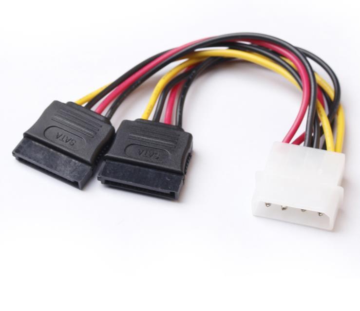 Baseqi SATA Мощность кабель сплиттер Molex 4PIN для Serial ATA 15 Pin х 2 Мужской Женский Y жесткий диск Кабели 15 см