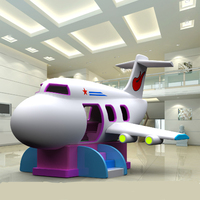 kids amusement indoor playground,electric soft play toys aircraft for children,Space motor plane YLW INA1830