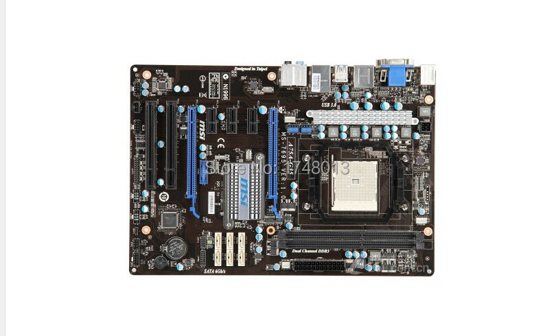 Free shipping 100% original motherboard for MSI A75A-G35 DDR3  Socket FM1 A75 Fully Integrated Quad-core APU Desktop motherborad 100% new desktop motherboard 945gc f fully integrated network support core celeron 775 pin motherboard ddr2 free shipping