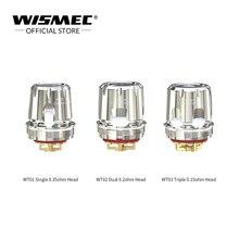 купить 5Pcs/lot WISMEC WT Coil WT01 Single 0.35ohm WT02 Dual 0.2ohm WT03 Triple 0.15ohm mesh Coils Vape head For Wismec Trough Tank недорого