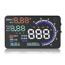 Universal A8 5.5 Inch Car HUD Head Up Display OBDII Speed Warning Fuel Consumption Data Diagnostic Car Alarm System(China)