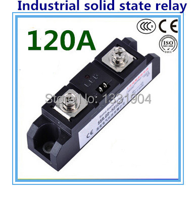 DC to AC SSR-H120ZF 120A SSR relay input DC 3-32V output AC440V industrial solid state relay normally open single phase solid state relay ssr mgr 1 d48120 120a control dc ac 24 480v