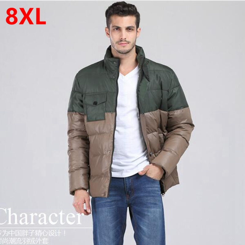 Autumn and winter with fertilizer XL man short hooded men loose fat coat Big yards down jacket 3XL 4XL 5XL 6XL 7XL 8XL