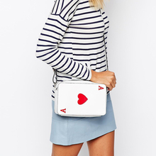 2016 New Fashion Women Bags Handbags Korean Poker Hearts A Fun Funny Ladies Shoulder Crossbody Bag