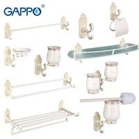 Gappo 1Set Bathroom Accessories Towel Bar Paper Holder Toothbrush Holder Glass shelf Toilet Brush Holder Bathroom Sets GA35T9