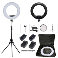 Yidoblo Black FS 480II Bio Color Beauty Salon Make Up Selfie 48W LED Ring Light LED