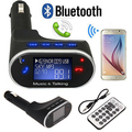 LCD Car Kit Bluetooth MP3 Player SD MMC USB FM Transmitter Modulator w/Remote