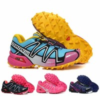 Salomon Speed Cross 3 III CS Marathon Sneakers MRL NB247 Women Running Shoes Outdoor Sports Shoes Free Shipping US 5 US 9