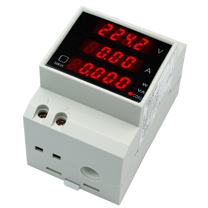 New D52-2048 AC 80-300V Multi-Functional LCD Digitial Active Power current voltage Meter Voltmeter Ammeter 39%off цена