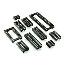 10pcs Square Type pin 8Pins DIP DIP-8 IC Socket Test Socket DIP8 DIP14 DIP16 DIP18 DIP20 DIP24 DIP28 DIP32 DIP40 IC Connector 100pcs ua741cn ua741 lm741 op amp compensation type dip 8