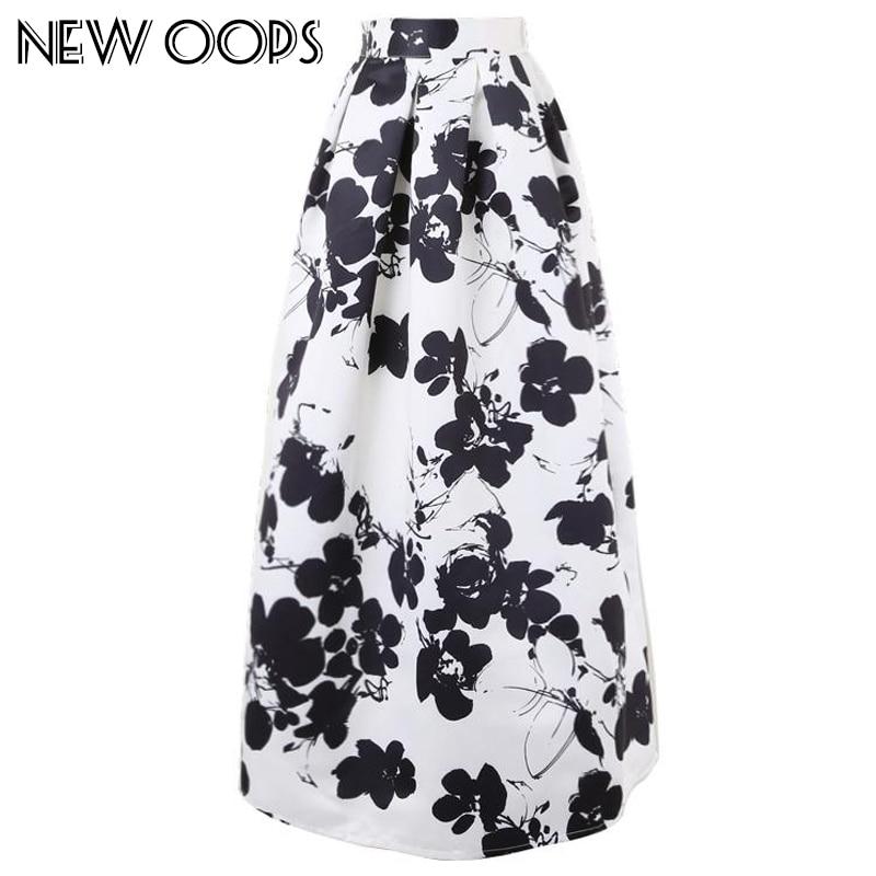 Aliexpress.com : Buy NEW OOPS Vintage Floor Long Skirt Black White ...