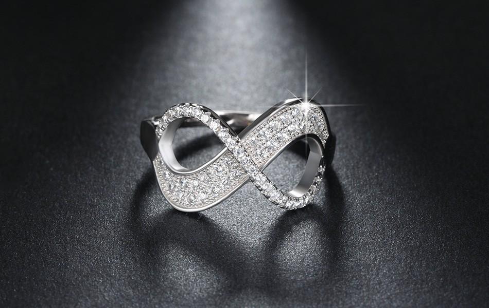 Unique Bow Design Infinity Ring