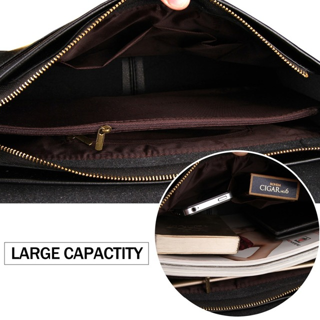 POLO Leather Men Bag Business Casual Messenger Bag High Quality Men's Brand Black/Brown Man Crossbody Bags For Travel 5