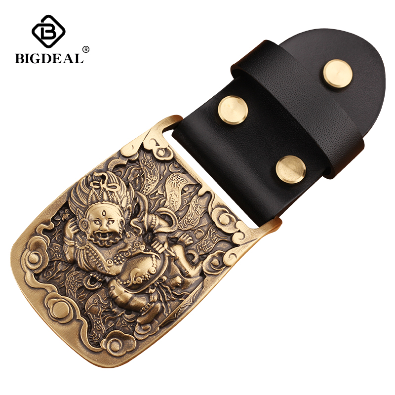 Solid Brass Belt Buckle Belt Loop Light Metal Anti-allergic To Skin Men Belt Accessories For Belts DIY Leather Craft
