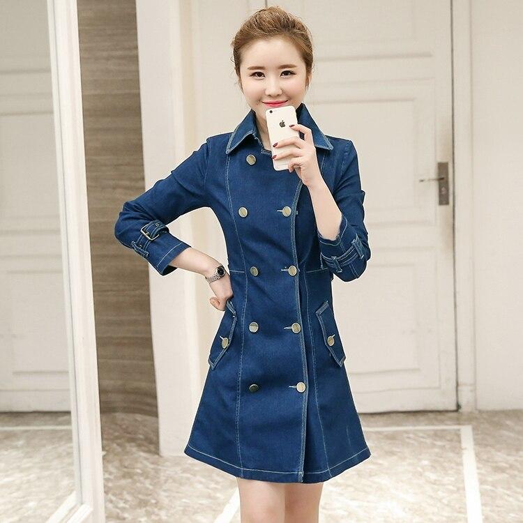 Jean Femmes Manches Longues 2017 2xl Robe Dress À Genou longueur D'été Plus Casual Ds06 Printemps Size Robes Tunique 0qqrFIw