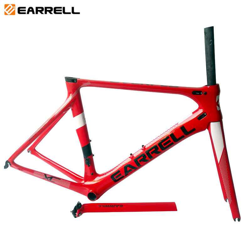 2018 NEW carbon fiber road frame Di2&Mechanical racing bike carbon road frame+fork+seatpost+headset carbon road bike EARRELL 2018 t800 full carbon road frame ud bb86 road frameset glossy di2 mechanical carbon frame fork seatpost xs s m l og evkin