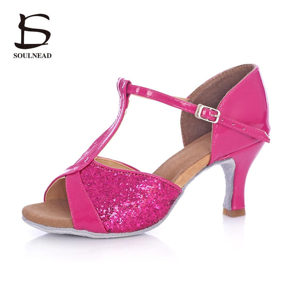 Adult Women Latin Dance Shoes Salsa Tango Dancing Shoes For Girls Ladies Ballroom Dance Shoes High Heeled 5cm / 7cm Latin Shoes
