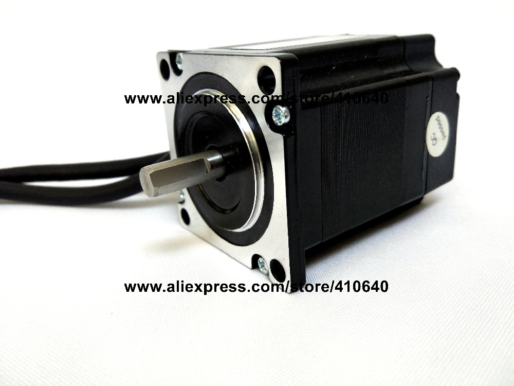 Free Shipping GENUINE Leadshine 573HBM10-1000 573S09 3 Phase Hybrid Stepper Motor with 0.9 N.m 3.5 A length 50 mm shaft 6.35 mm