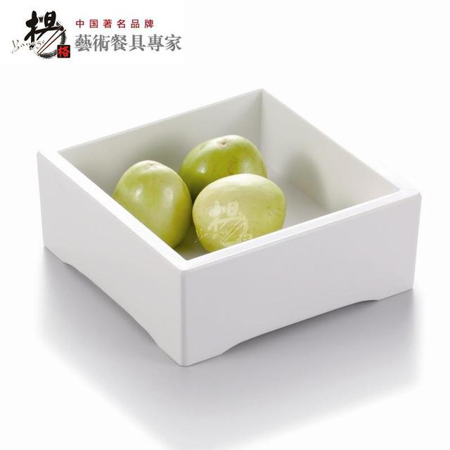 European white square plastic melamine fast food fruit ice cube plate box tray dinner plate dish  sc 1 st  AliExpress.com & European white square plastic melamine fast food fruit ice cube ...
