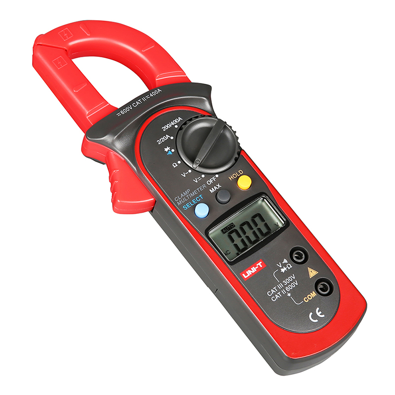 UT202A Data Hold Clamp Meter 600A AC Current DC/AC Voltage Tongs Resistance Tester Digital Clamp Meters [randomtext category=