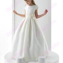 Платья для первого причастия длиной до пола, с рукавами-крылышками, милое платье на заказ для Святого Причастия, акции