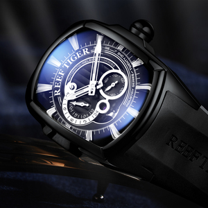 Image 4 - 2020 Reef Tiger/RT New Arrival Sports Mens Automatic All Black Rubber Strap Waterproof Watch RGA3069S