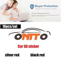 10pcs/set Car Body Stickers Badge 3D Metal Decals Auto logo badge emblem label
