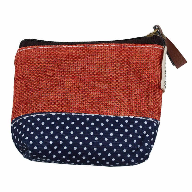 Moda Tela Pequena Bolsa Zip Carteira Meninas Caso Moeda Bolsa Saco Chave Titular bolsas e bolsas das senhoras das mulheres do sexo feminino carteira