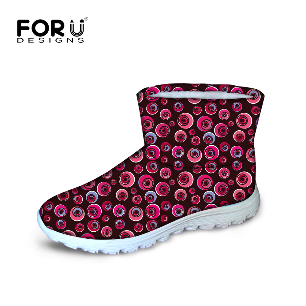 ФОТО Lolita style winter snow boots for women waterproof non-slip warm ankle botas for ladies pink red purple colorful botte femme