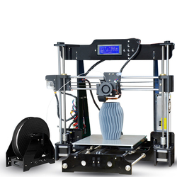 TRONXY P802M Desktop 3D Printer FDM DIY Kits 3D Printer MK8 Extruder Nozzle Acrylic Frame LCD Screen Standard with 10M Filament
