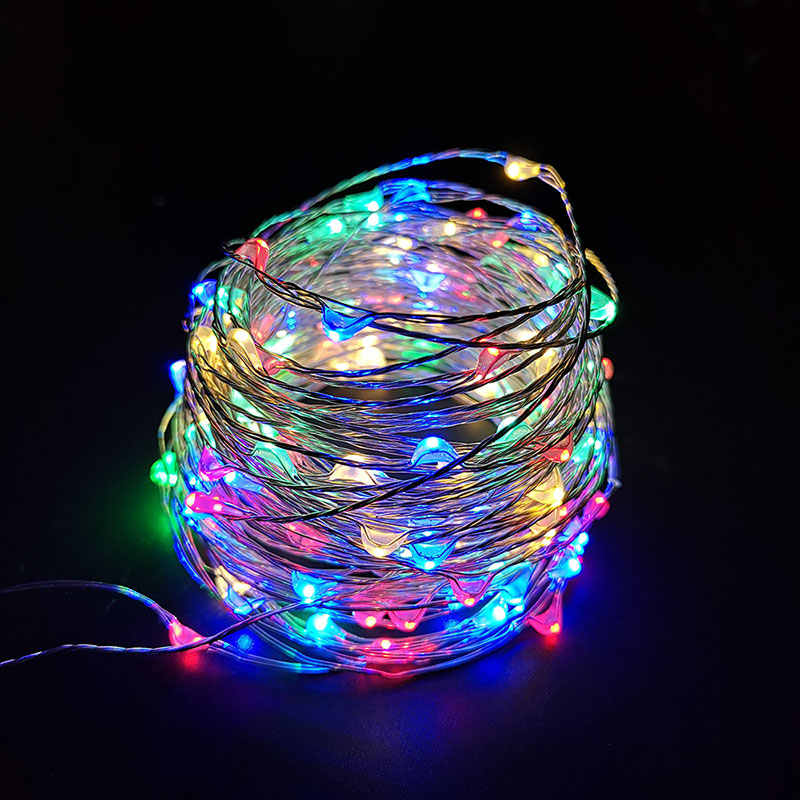 2M 3M 5M 10M Wire Fairy Garland Lamp LED String Lights Christmas Wedding Home Party Decoration Powered USB/Corker/3*AA Battery