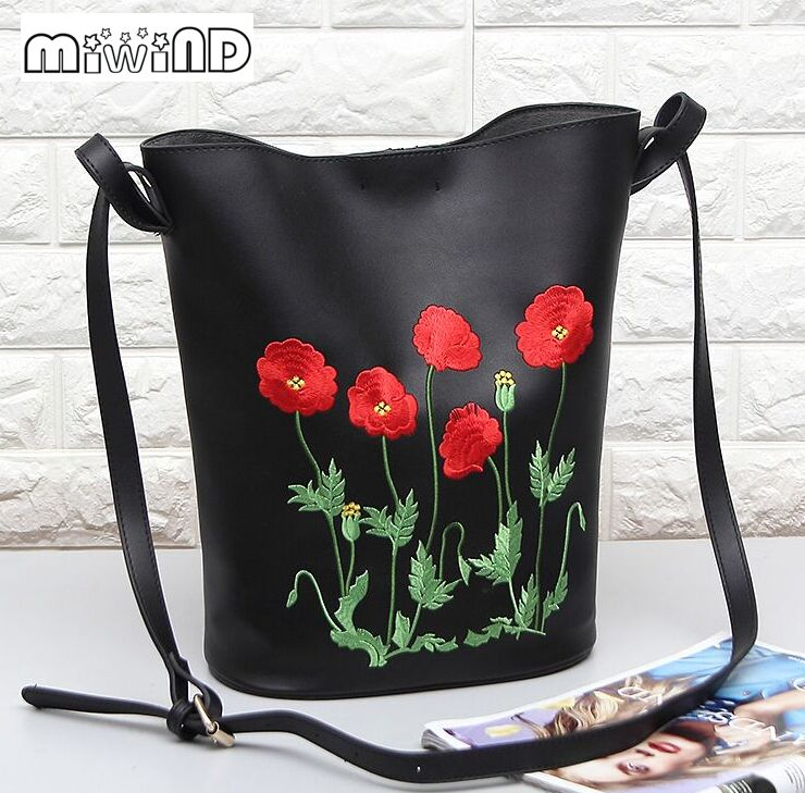 ФОТО High quality and exquisite flower embroidery bag luxury high fashion spring/summer new women's handbags,cute bucket bags