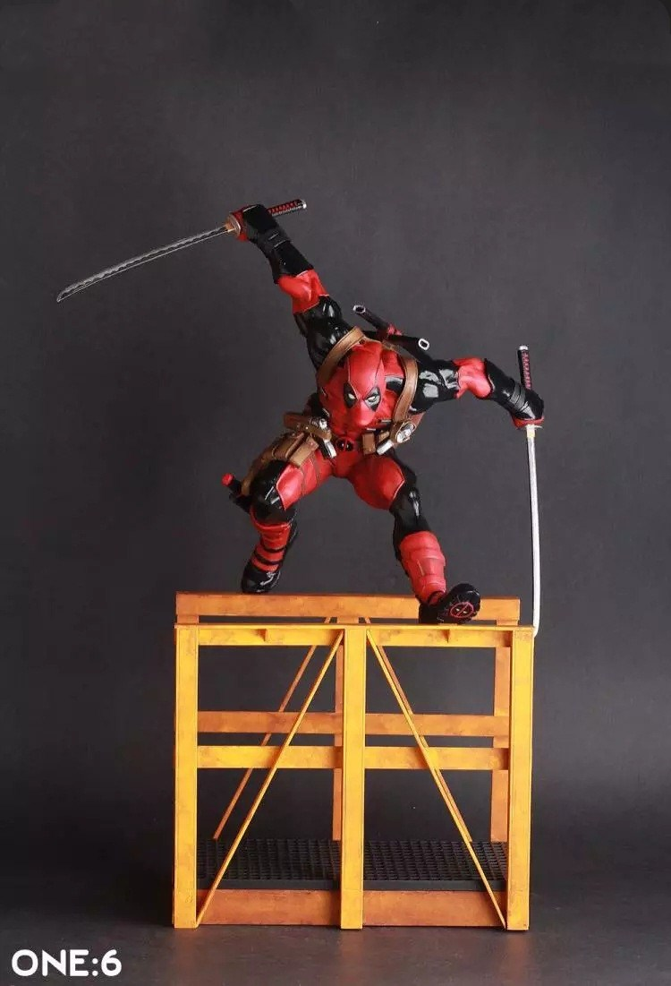 Huong Movie Figure 40CM Deadpool 2 Hurdling Ver. 1/6th Scale Statue PVC Figure Collectible Model Toy 16inch 40cm crazy toys deadpool 2 pvc action figure collectible model toy deadpool toy