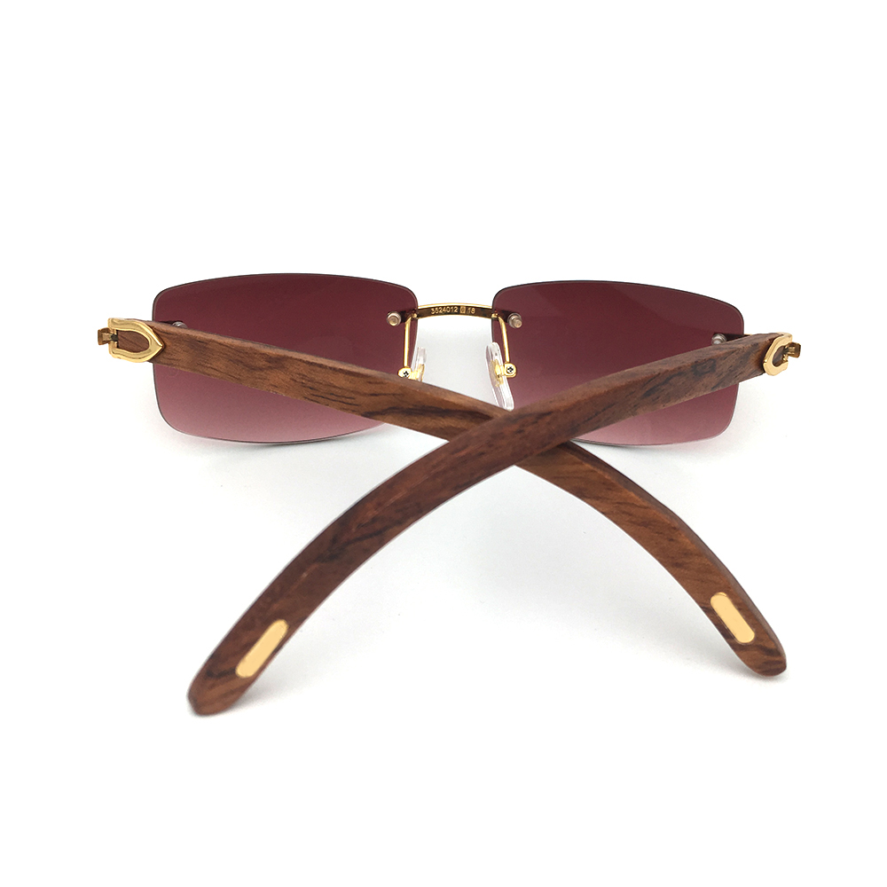 cfb6de97b9a Luxury Brand designer sunglasses for men Carter glasses wood frame White  Black Buffalo Horm sunglass pink shades wooden glass-in Sunglasses from  Apparel ...